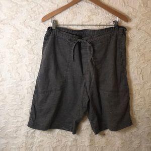 PRANA hemp/cotton large tie shorts